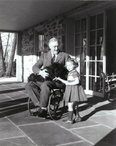 FDR--only one of two known photos of him in a wheel chair